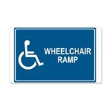 Wheelchair Ramp Notice 20x12 Wall Peel