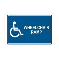 Wheelchair Ramp Notice 35x21 Wall Peel
