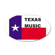 Texas Music 35x21 Oval Wall Peel