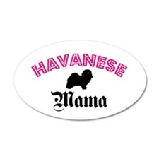 Havanese Mama 35x21 Oval Wall Peel