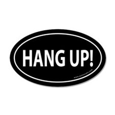HANG UP Auto Sticker -Black (Oval)