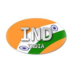 India Pride 35x21 Oval Wall Peel