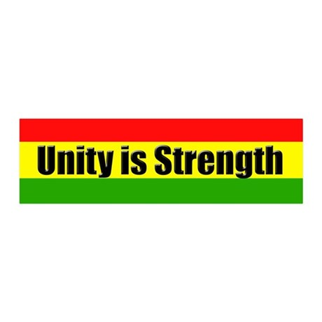 Rasta Gear Shop Unity is Strength 36x11 Wall Peel