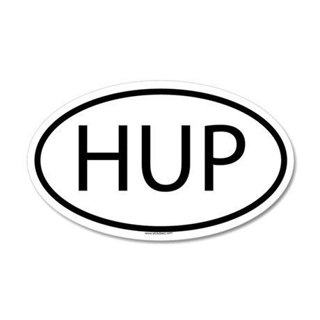 HUP 20x12 Oval Wall Peel