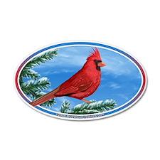 Cardinal Bird Bumper 35x21 Oval Wall Peel