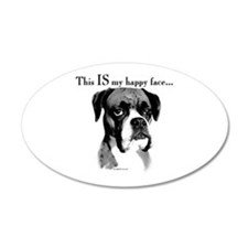 Boxer Happy Face 20x12 Oval Wall Peel
