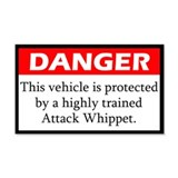 Danger Whippet Sticker