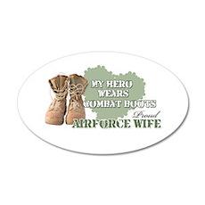 My Hero Wears Combat Boots-Ai 35x21 Oval Wall Peel