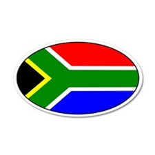 South African Flag 35x21 Oval Wall Peel