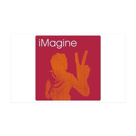 iMagine - Peace - Siloette 35x21 Wall Peel