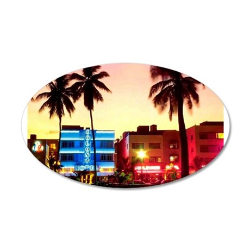 Miami 35x21 Oval Wall Peel