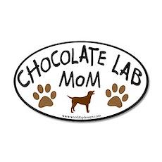 Chocolate Lab Mom 35x21 Oval Wall Peel