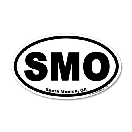 Santa Monica, California SMO 35x21 Oval Wall Peel