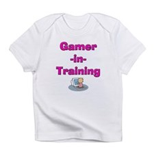 Gamer-in-Training (Pink) Creeper Infant T-Shirt