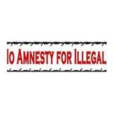 No Amnesty for Illegals 36x11 Wall Peel