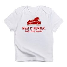 Meat is murder, tasty murder Infant T-Shirt
