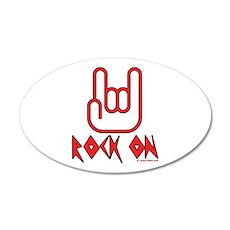 Rock On 35x21 Oval Wall Peel