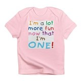 More Fun 1st Birthday First Creeper Infant T-Shirt