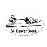 Ski Beaver Creek CO 20x12 Oval Wall Peel