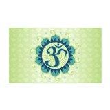 Lotus Aum Blue/Green - 35x21 Wall Peel