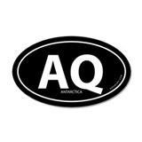 Antarctica country bumper sticker -Black (Oval)