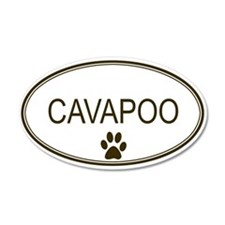 Oval Cavapoo 20x12 Oval Wall Peel
