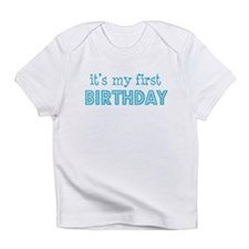 It's my first Birthday (blue) Creeper Infant T-Shi