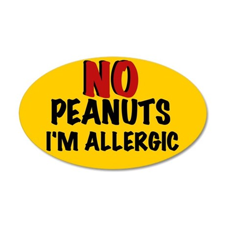 PEANUT ALLERGY 20x12 Oval Wall Peel