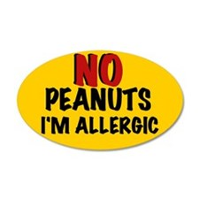 PEANUT ALLERGY 35x21 Oval Wall Peel