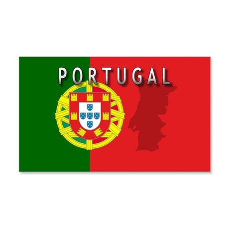 Portugal Flag Extra 20x12 Wall Peel