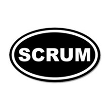 Scrum Euro 20x12 Oval Wall Peel