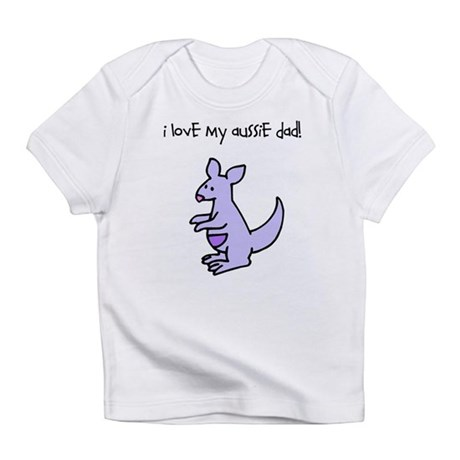 I Love My Aussie Dad Kangaroo Infant T-Shirt