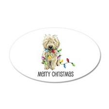 Doodle Christmas Lights 35x21 Oval Wall Peel