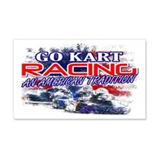 American Go Kart Racing 20x12 Wall Peel