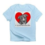 I Love Pitbulls Creeper Infant T-Shirt