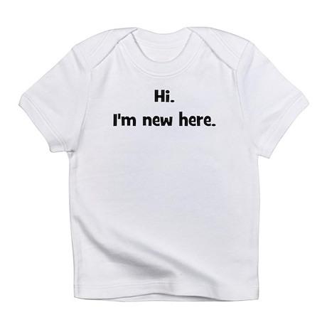 Hi. I'm New Here. (black) Creeper Infant T-Shirt