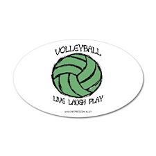 Volleyball LLL 35x21 Oval Wall Peel
