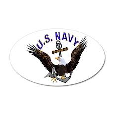 US Navy 20x12 Oval Wall Peel
