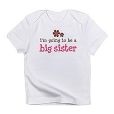 big sister pink brown flower Infant T-Shirt