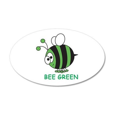 Bee Green 20x12 Oval Wall Peel