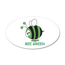 Bee Green 35x21 Oval Wall Peel