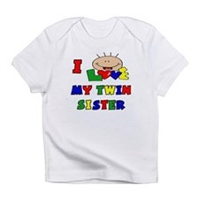 I Love My Twin Sister CUTE Baby/toddlers Infant T-