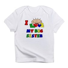 I Love My BIG Sister CUTE Baby/toddlers Infant T-S