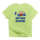 I Love BIG Sister Blue Baby/toddlers Infant T-Shir
