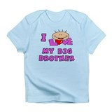 I Love BIG Brother Pink Baby/toddlers Infant T-Shi