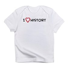 I Love History Creeper Infant T-Shirt