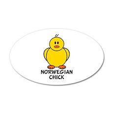 Norwegian Chick 20x12 Oval Wall Peel