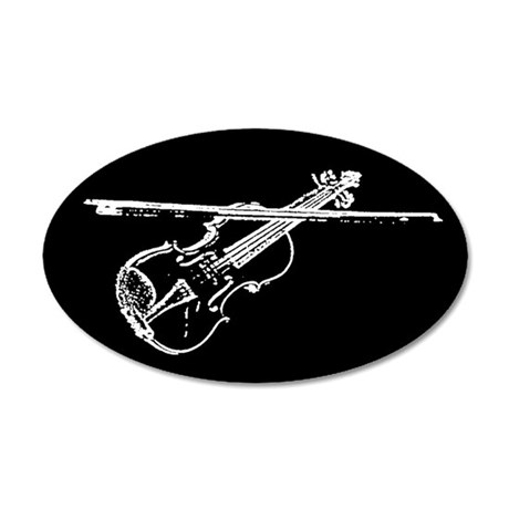 Violin 20x12 Oval Wall Peel