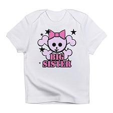 Pink bow skull big sister Infant T-Shirt