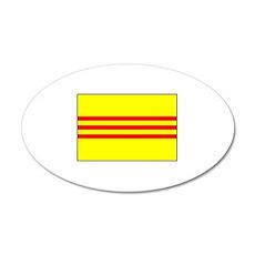 South Vietnamese Flag 20x12 Oval Wall Peel